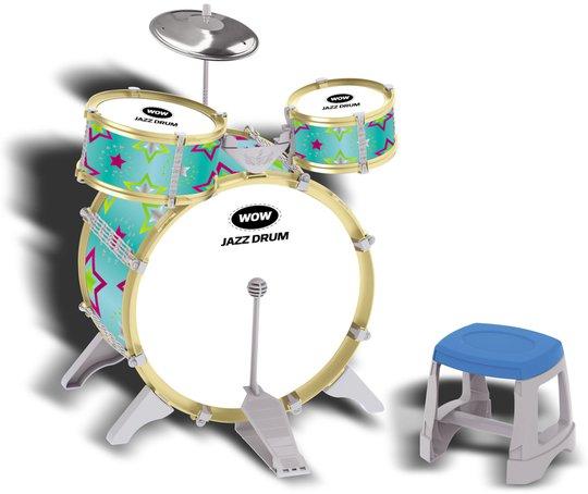 Trommesett 3 trommer, Grønn