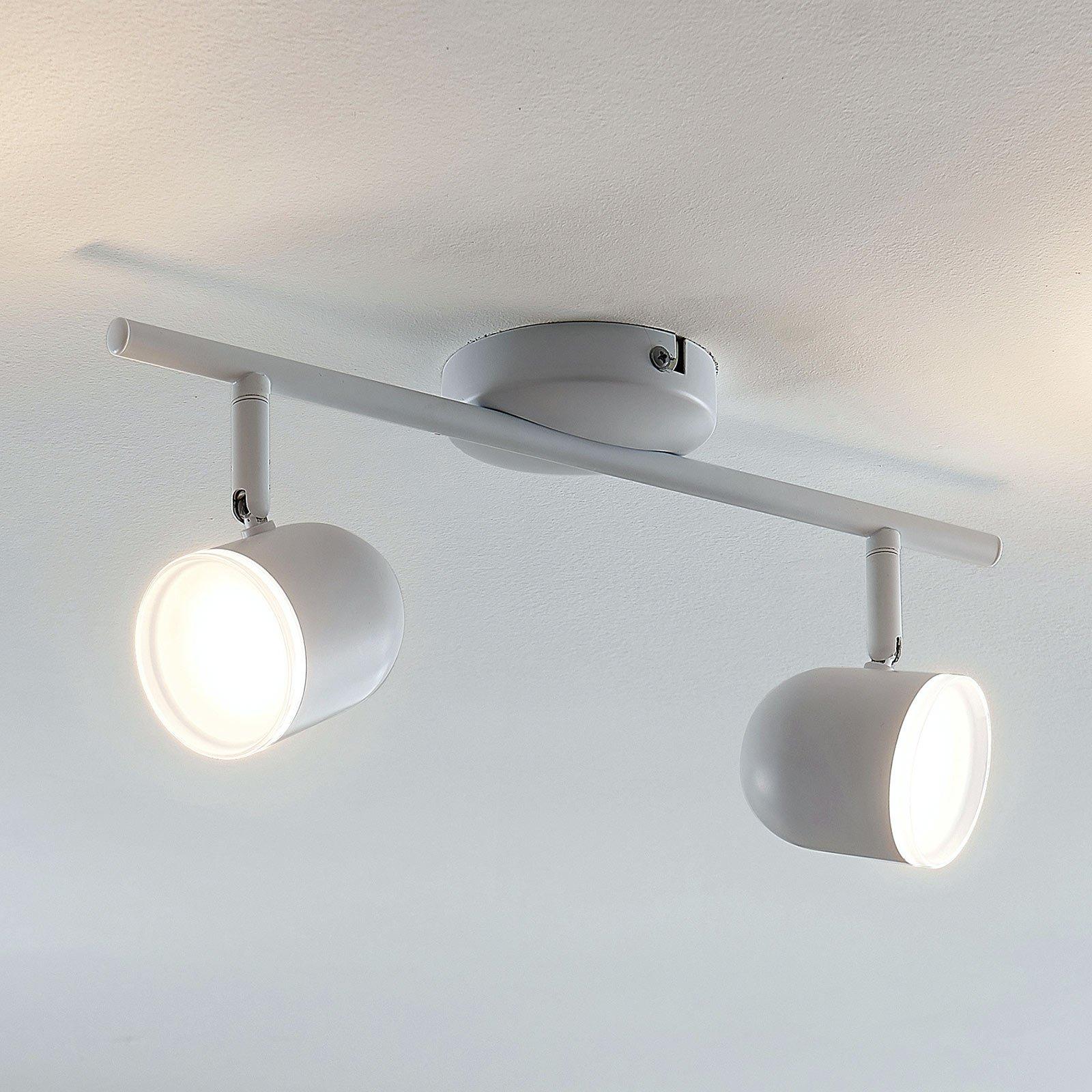 LED-taklampe Ilka justerbar, hvitt, 2 lyskilder