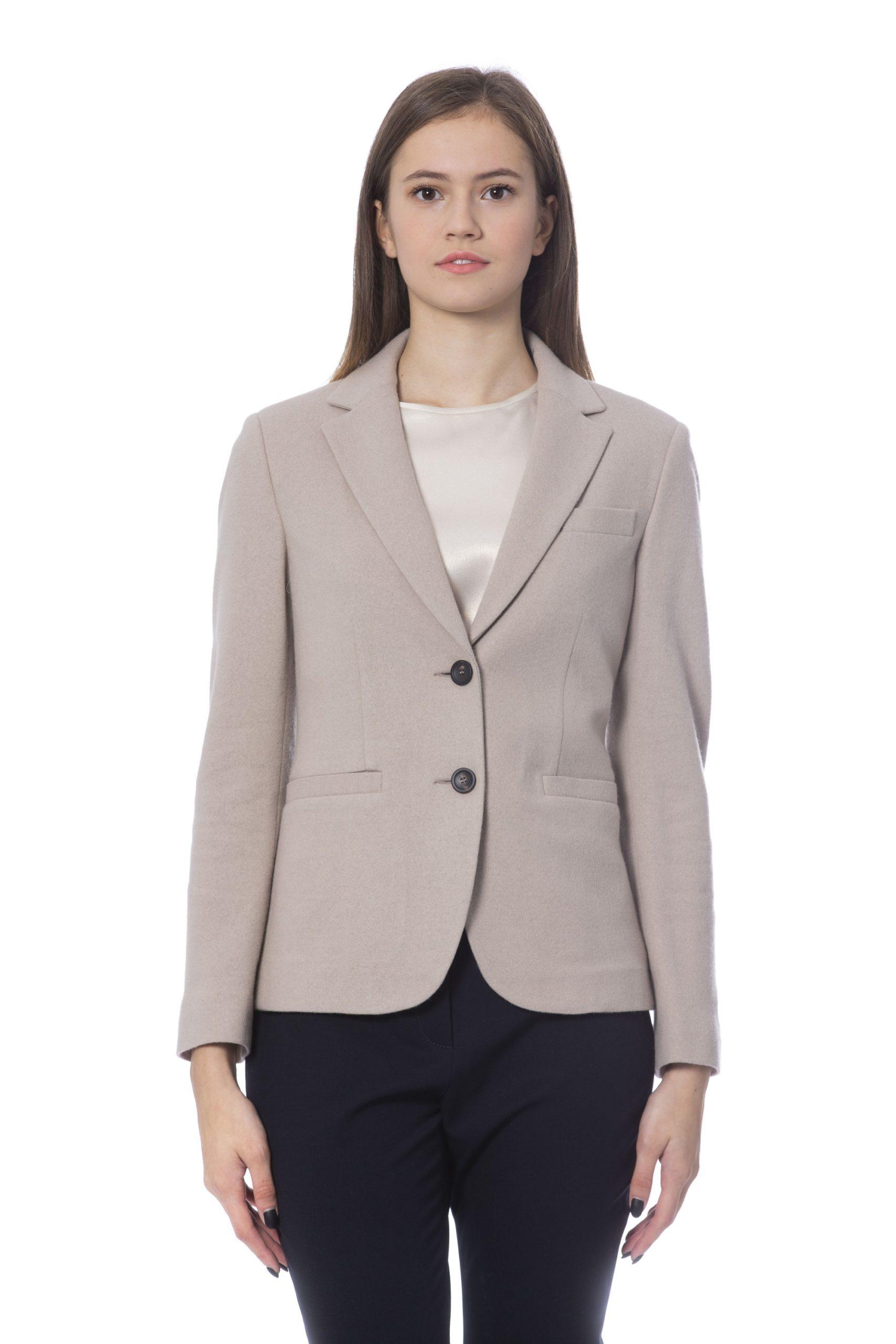 Peserico Women's Jackets Beige PE854154 - IT42   S