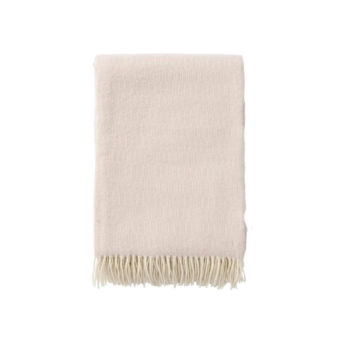 Premium ullpläd MANHATTAN rosa, Klippan Yllefabrik