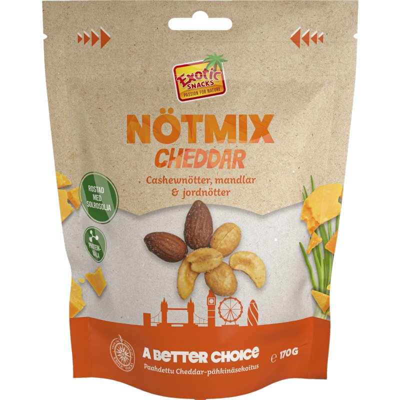 Pähkinäsekoitus Cheddar - 27% alennus