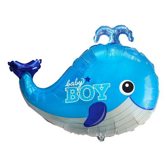 Folieballong Baby Boy Blå Val