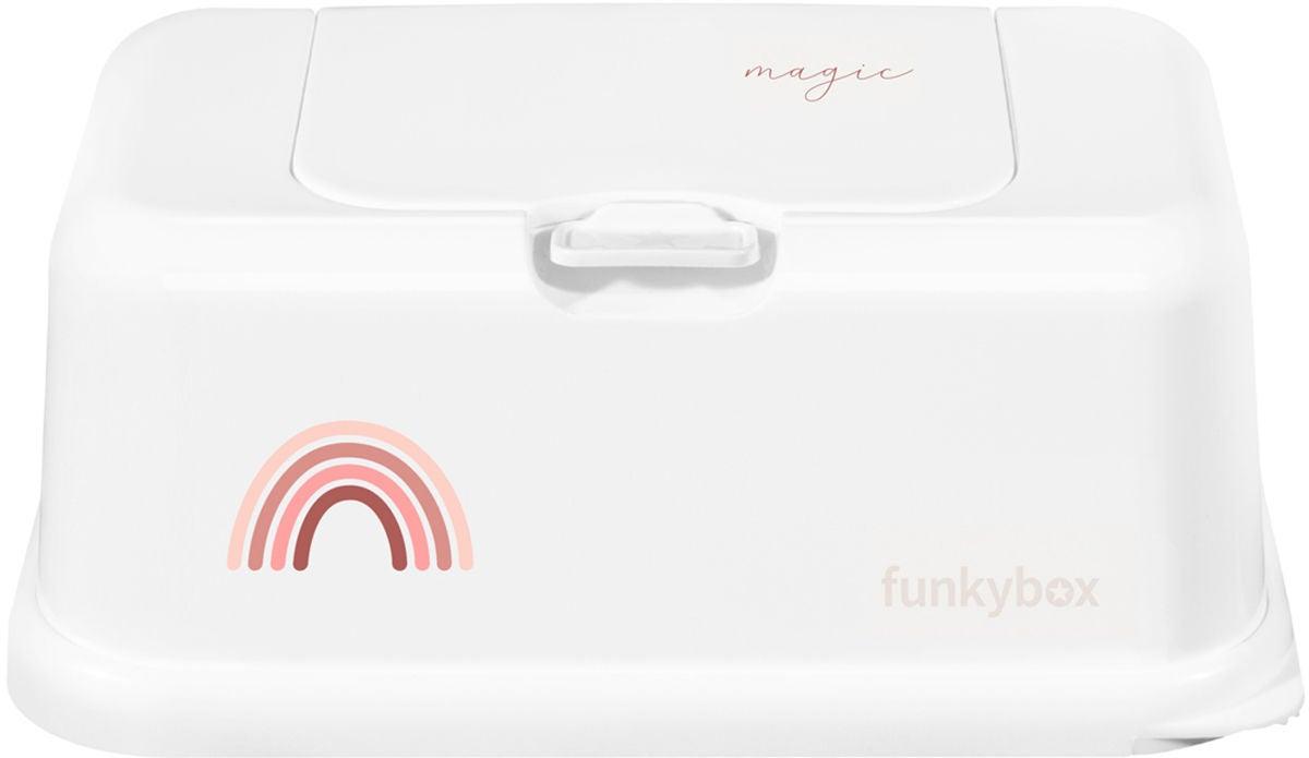 Funkybox Säilytysrasia Kosteuspyyhkeille Rainbow, Vaaleanpunainen