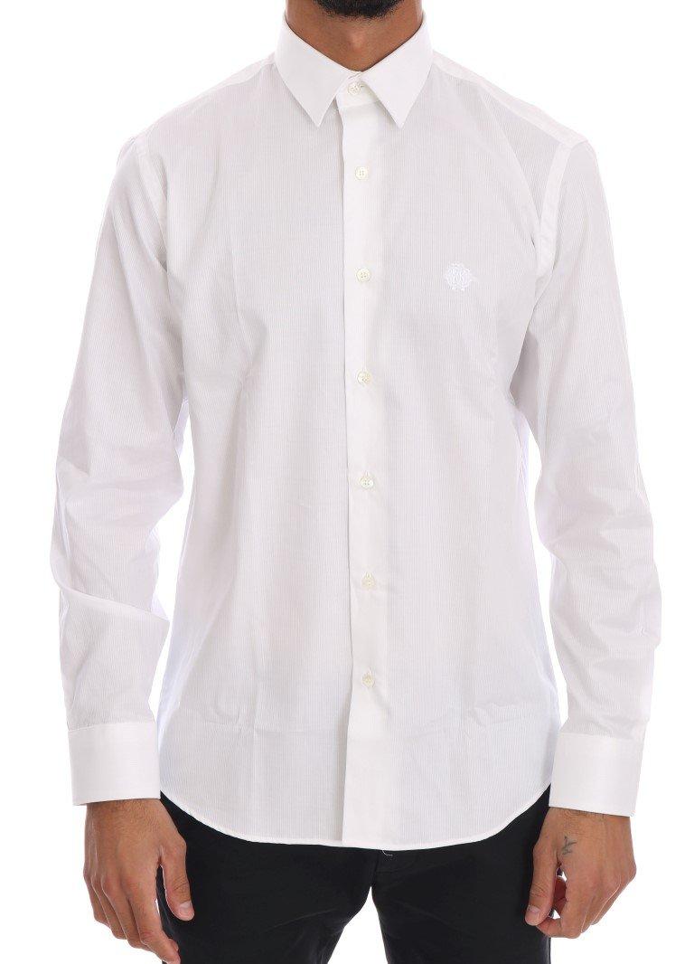 Cavalli Men's Shirt White TSH1497 - 39