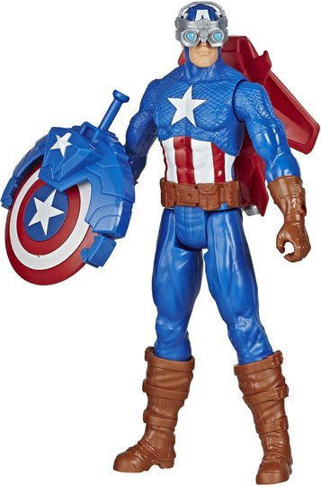 Marvel Avengers Titan Hero Figur Captain America Blast Gear