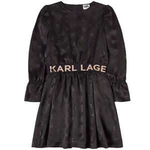 Karl Lagerfeld Kids All Over Print Klänning Svart 4 år