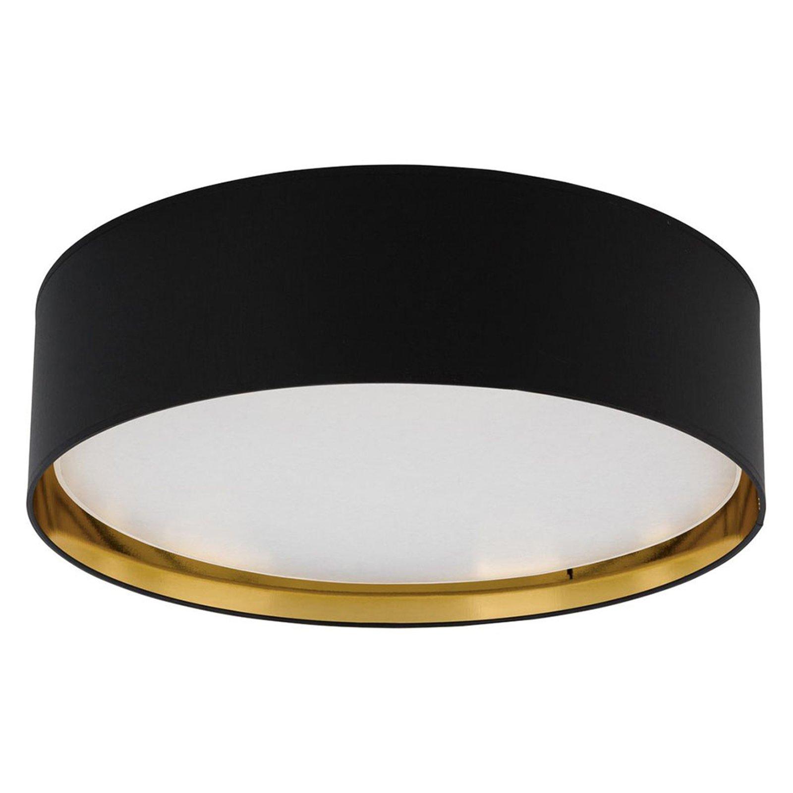 Taklampe Bilbao, Ø 60 cm, svart/hvit