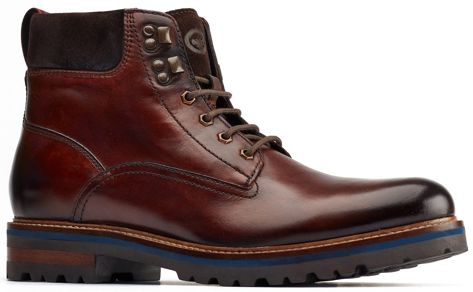 Base London Men's Maidon Work Boot Brown 31257 - Brown 6