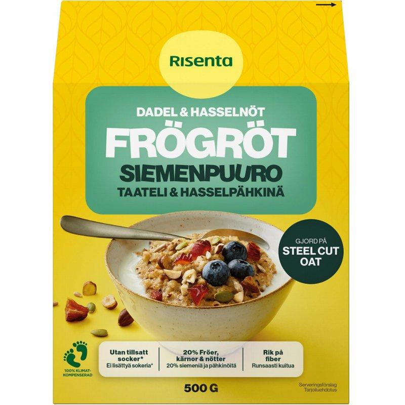 Siemenpuuro Taateli&Hasselpähkinä 500gr - 29% alennus