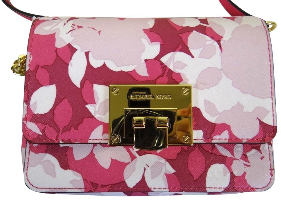 Michael Kors Women's Tina Clutch Crossbody Bag Pink MK27387