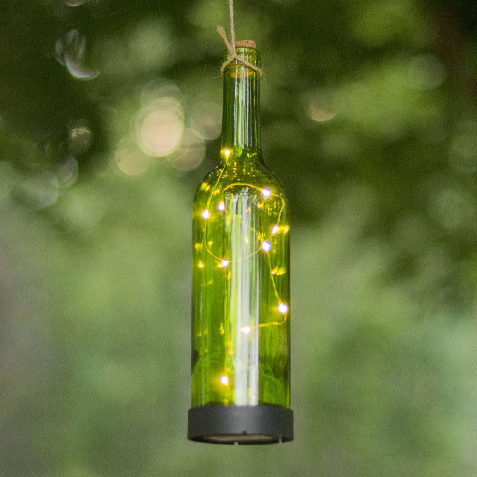 Aurinkokäyttöinen Bottle-LED-valaisin, vihreä