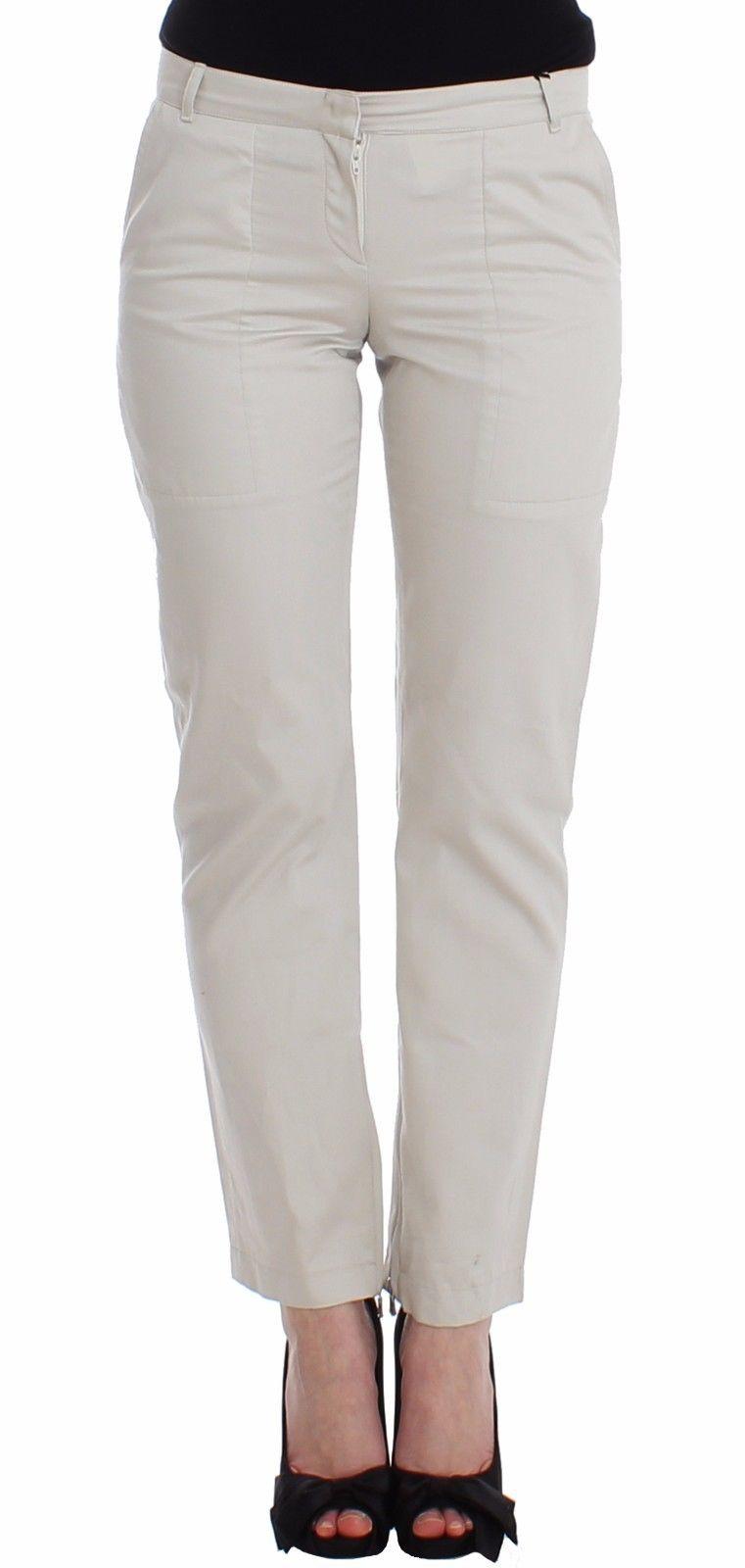 Ermanno Scervino Women's Slim Skinny Leg Trouser Beige SIG12448 - IT42   S