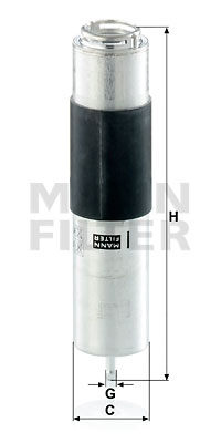 Polttoainesuodatin MANN-FILTER WK 5016 z