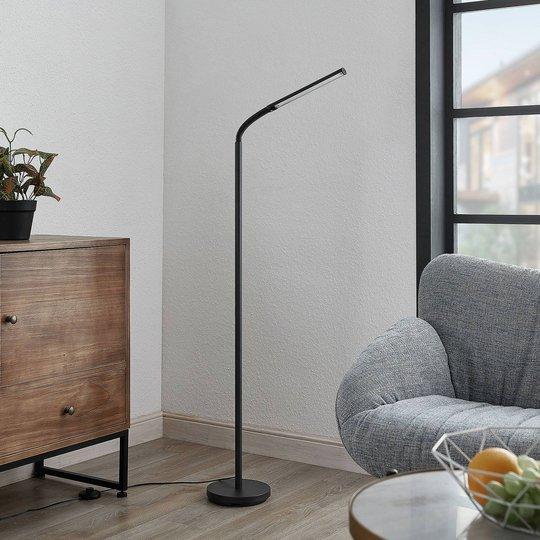 Lindby Romila LED-gulvlampe i svart