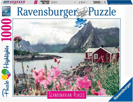 Ravensburger Puslespill Skandinavia: Reine Lofoten 1000 Brikker