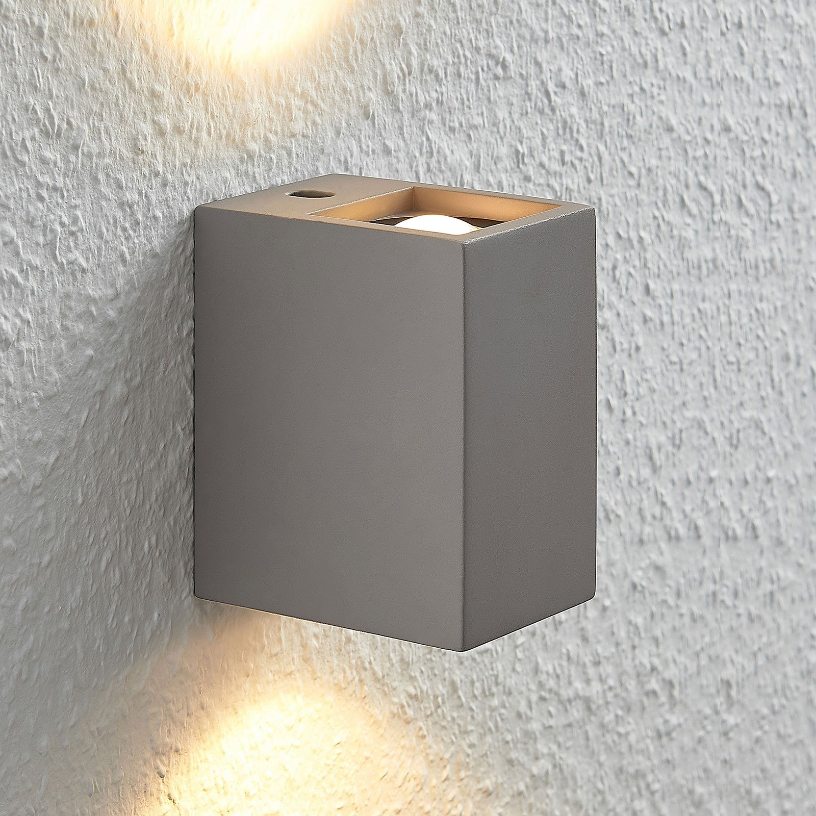 LED-vegglampe Cataleya Betong Up&Down 7x12cm