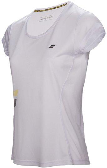 Babolat Core Flag Club Girl T-Shirt, White 128