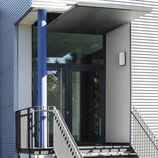 Utendørs LED-vegglampe 039 rustfritt stål grafitt