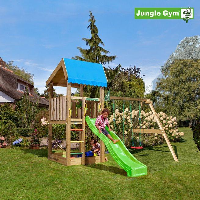 Jungle Gym Home lektorn komplett inkl. Swing, Klätterställning