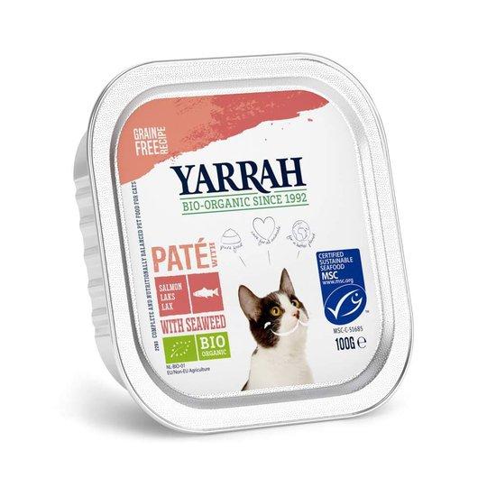Yarrah Organic Cat Salmon Paté Grain Free 100 g