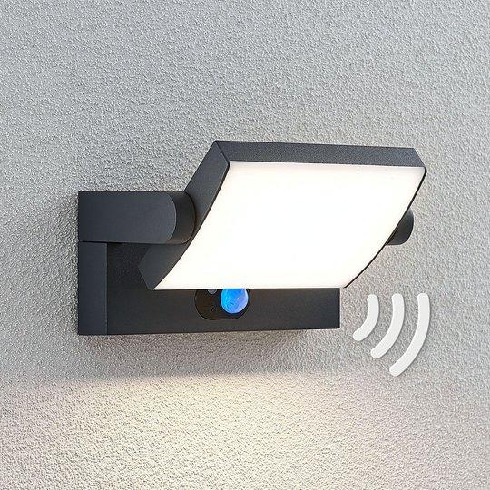 LED-solcelle-utevegglampe Sherin med sensor