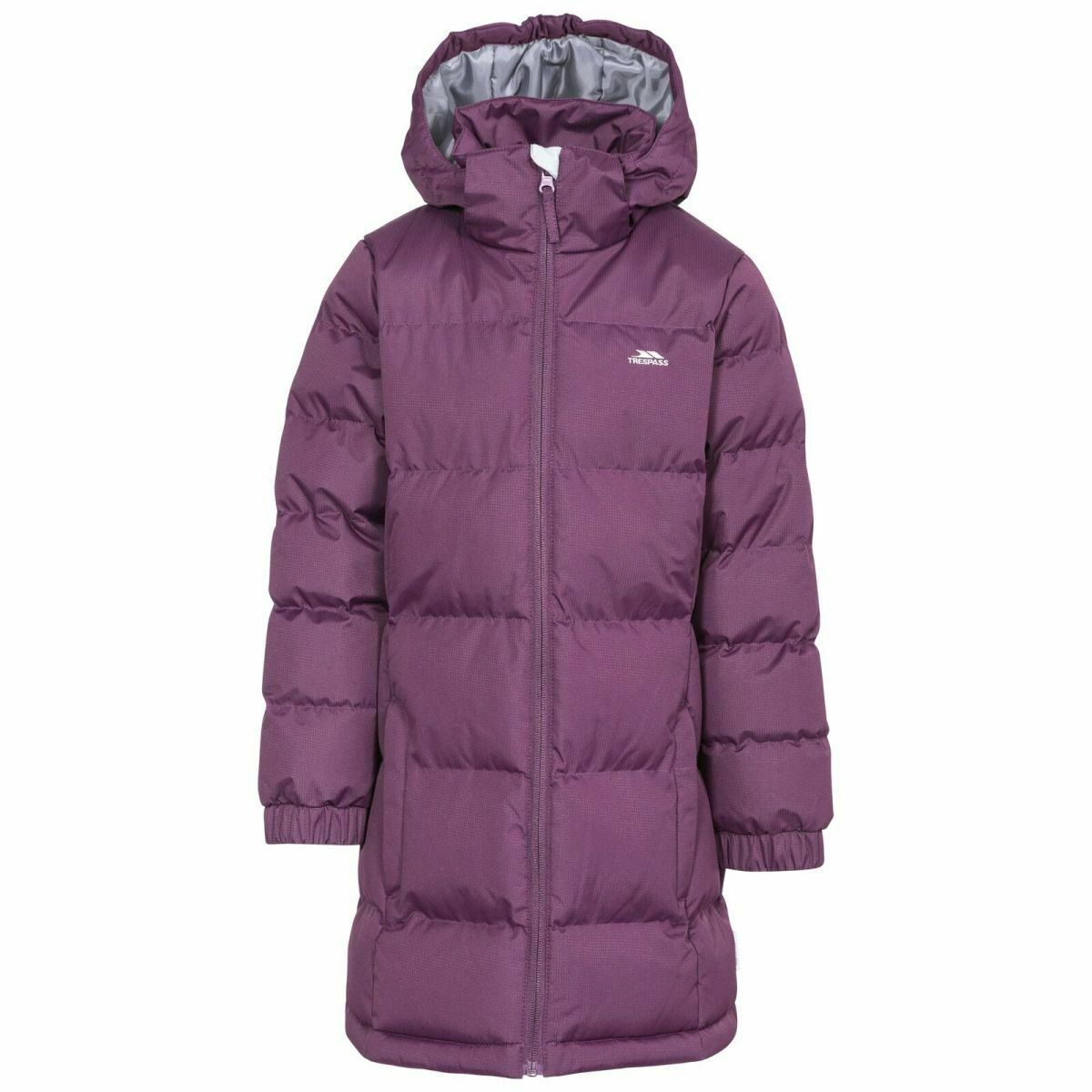 Trespass Kid's Puffa Jacket Various Colours Tiffy - Potent Purple 9 to 10 Years