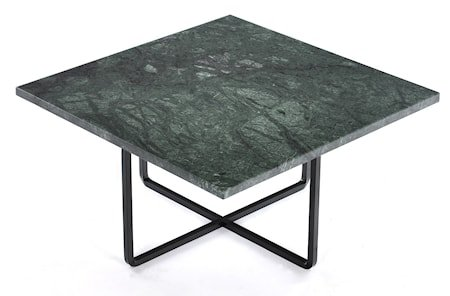 Ninety 60x60 sofabord - Grønn indio/svartlakkert metallstomme
