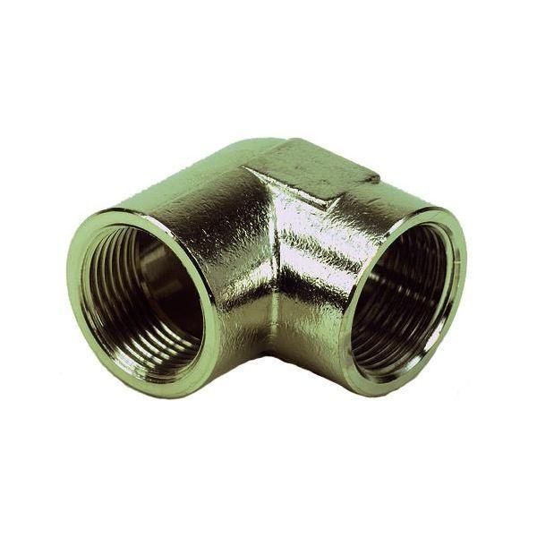 Ezze 3006093012 Vinkel metall, inv gjenge G15, messing