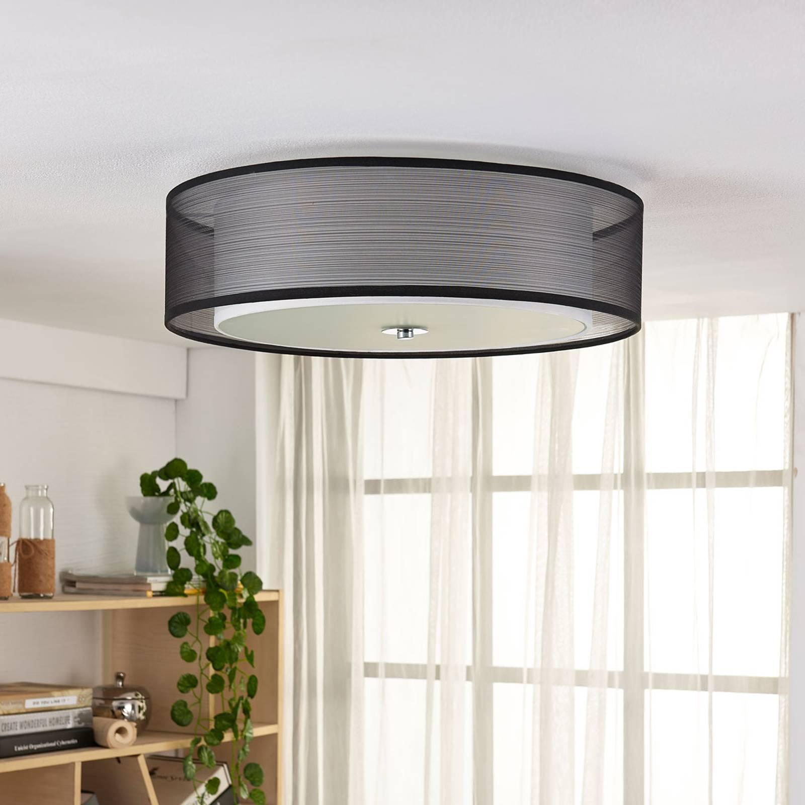 Easydim-LED-kattovalaisin Tobia, organza-varjostin