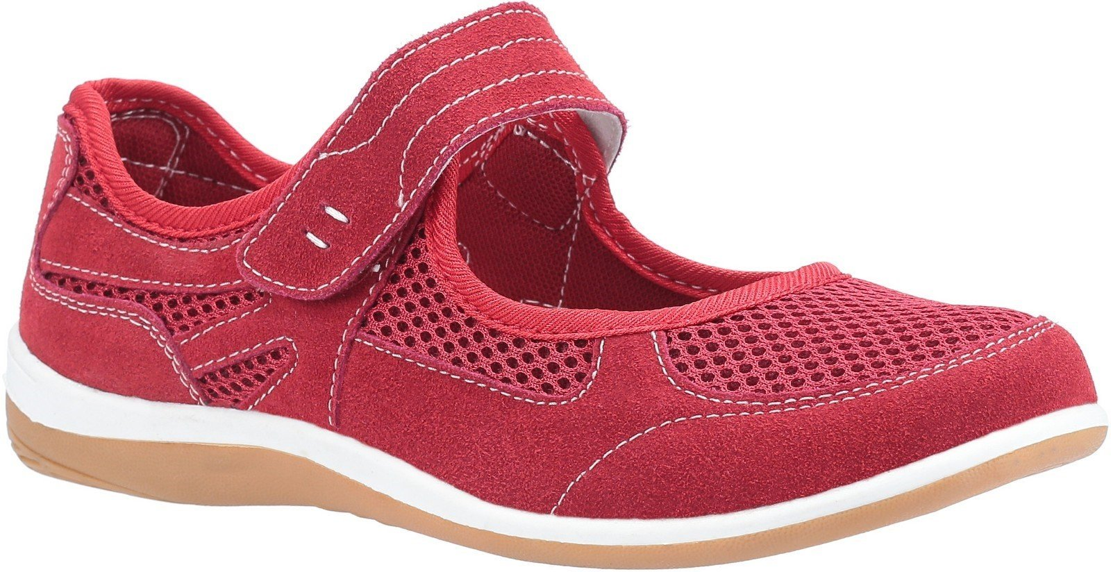 Fleet & Foster Women's Morgan Touch Slip on Sandal Various Colours 30110-51113 - Red 3