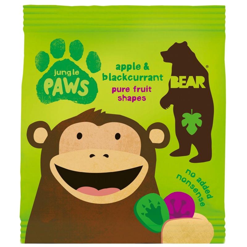 "Godis ""Jungle Paws Apple & Blackcurrant"" 20g - 67% rabatt"