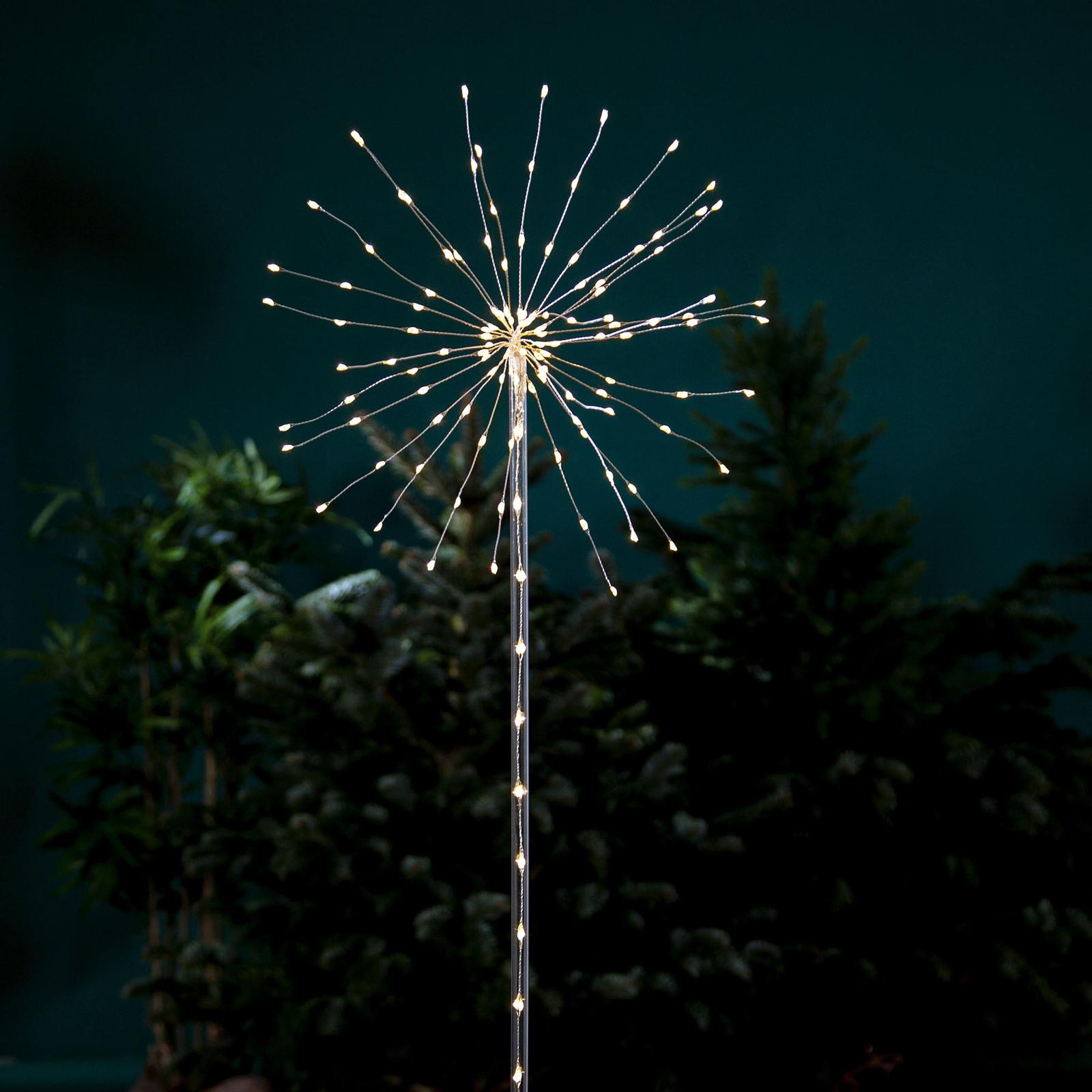 Firework Outdoor -LED-koristevalo lämmin valkoinen