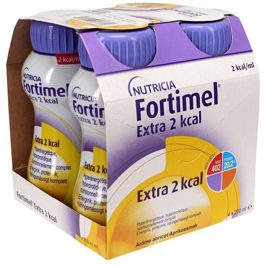 Fortimel Energy Multi Fibre Aprikos 4 x 200 ml - 48% rabatt