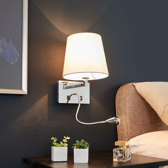 Kankainen seinävalaisin Leonella LED-lukulampulla