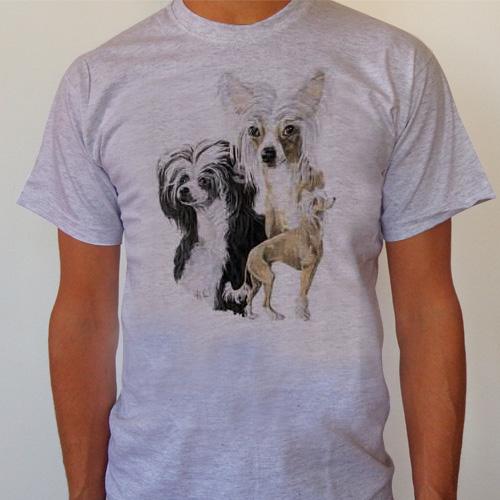 T-Shirt Kinesisk nakenhund Medium