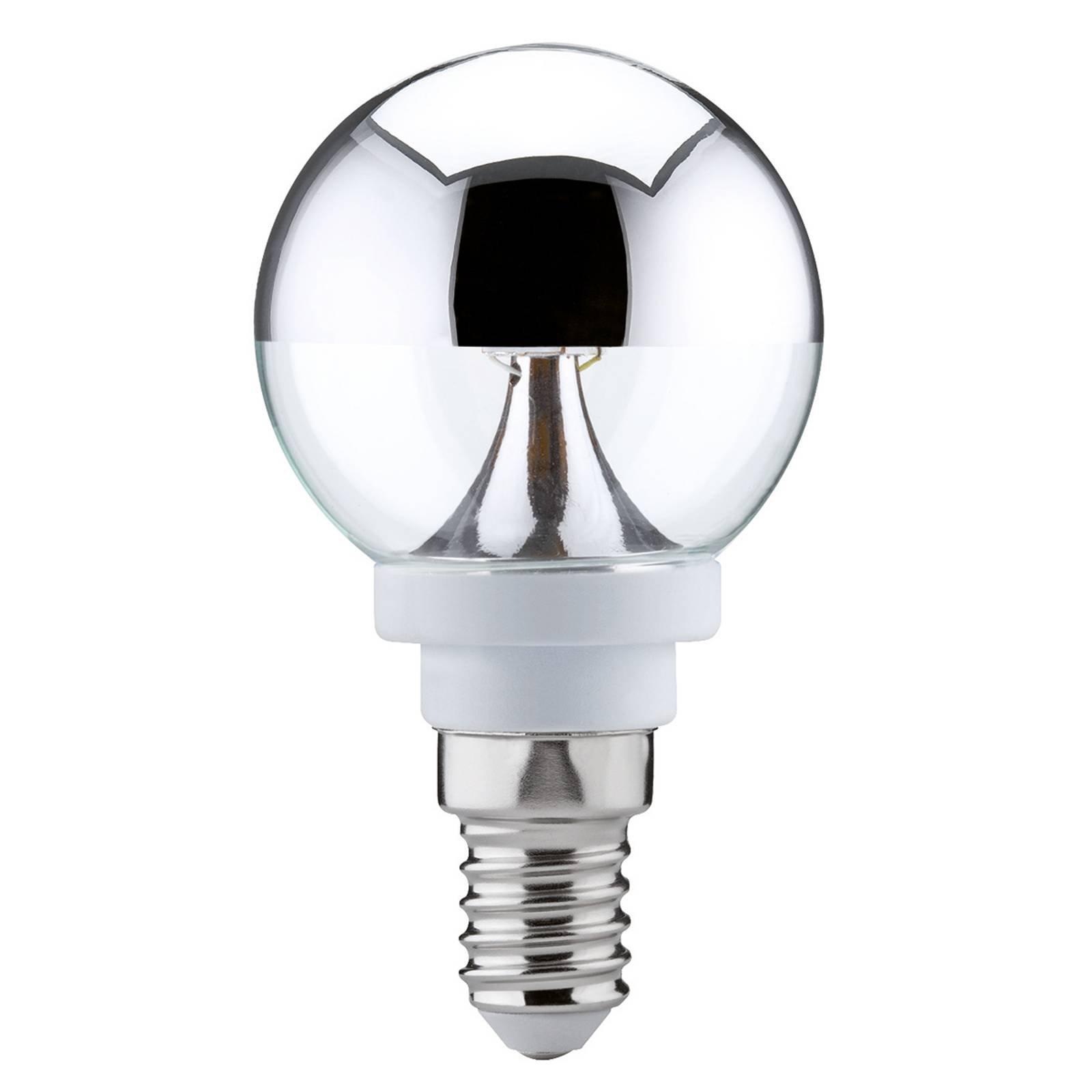 E14 2,5W 827 LED-Globe med hodespeil, varmhvit