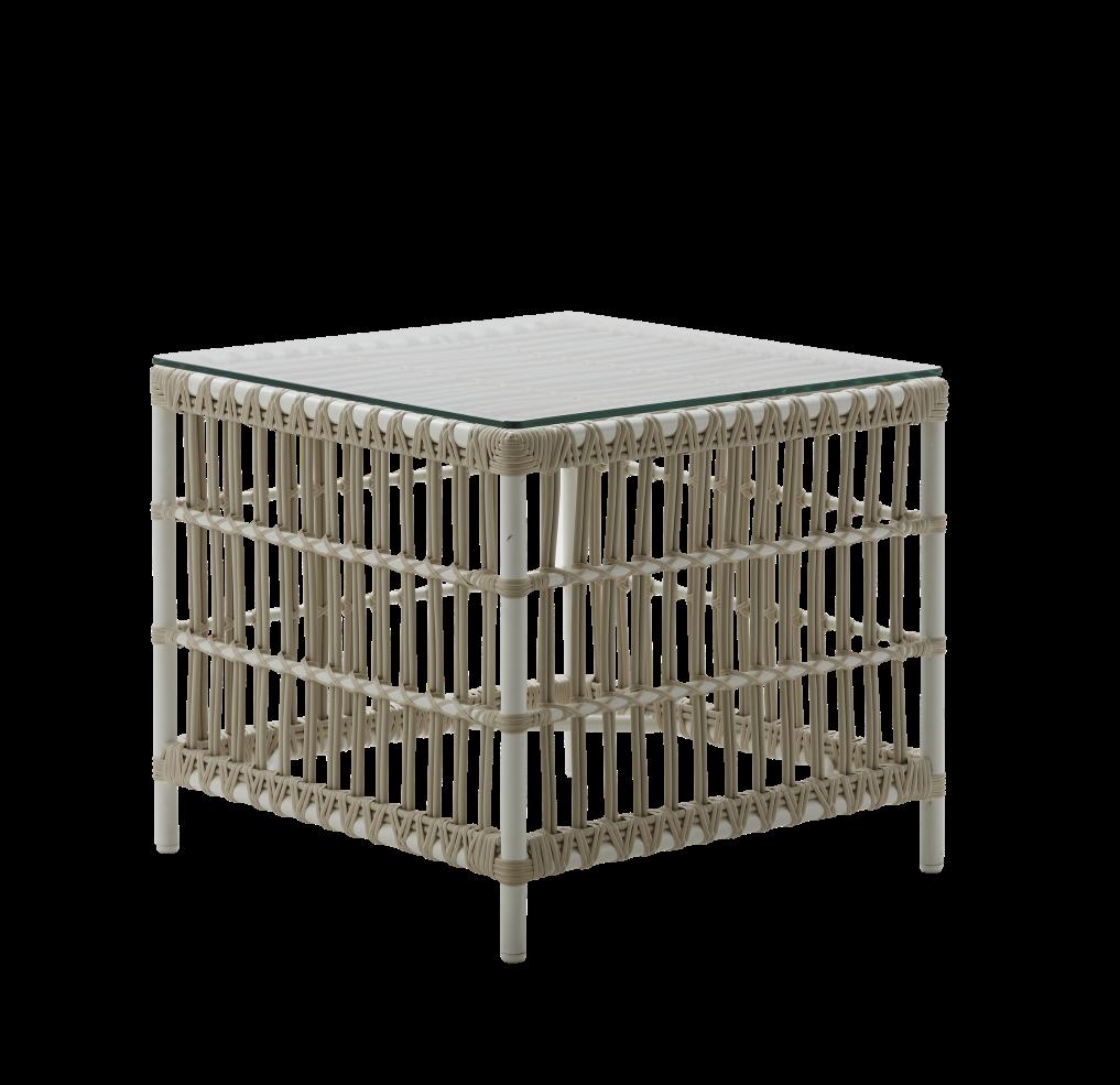 Donatello side table Exterior vit, Sika-design