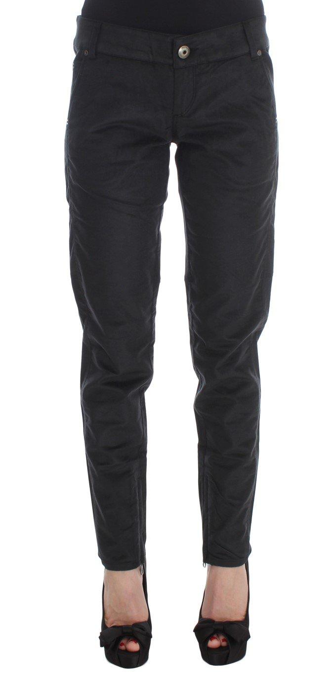 Ermanno Scervino Women's Regular Fit Trouser Black SIG30403 - IT42|M
