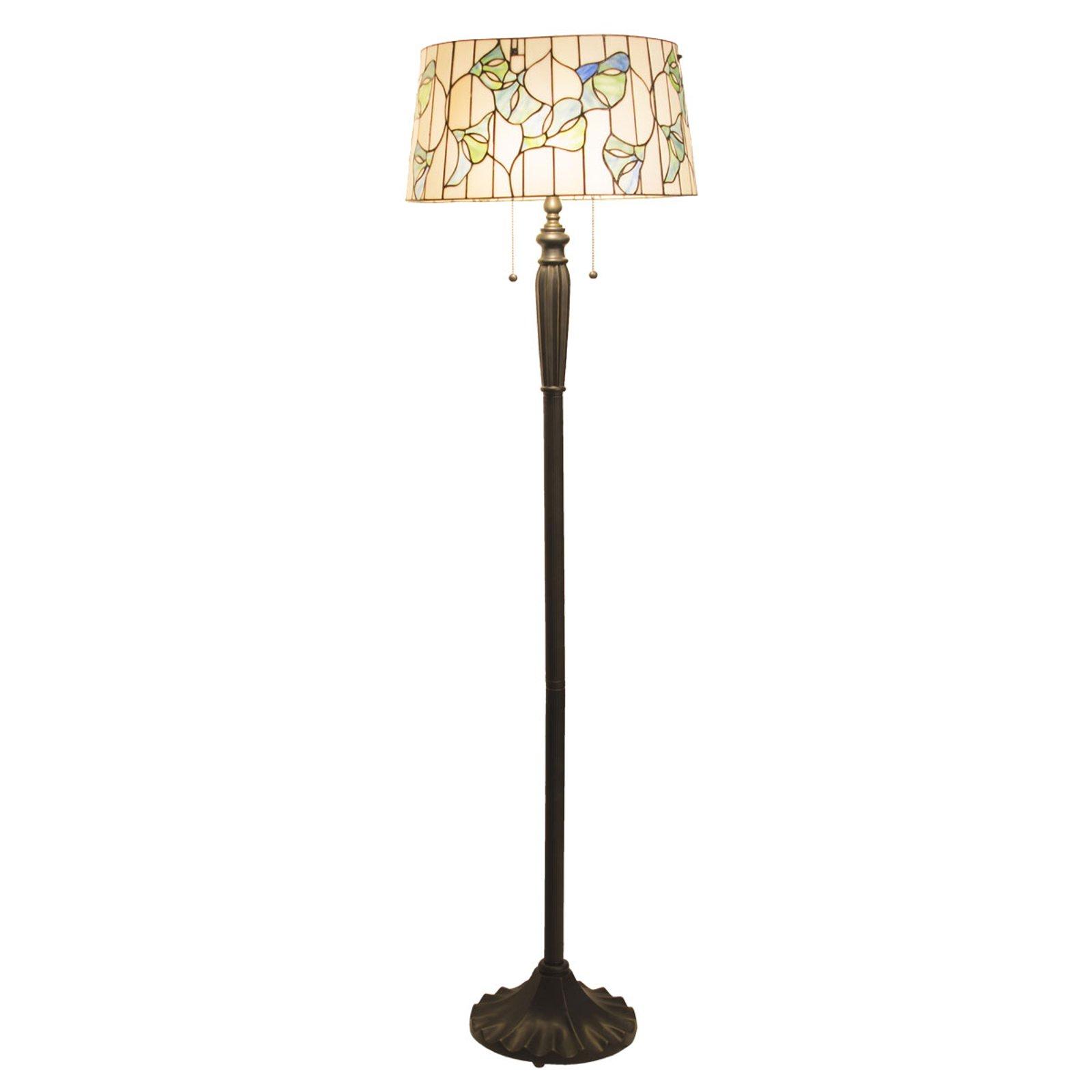 5944 gulvlampe med sylinderskjerm, Tiffany-stil