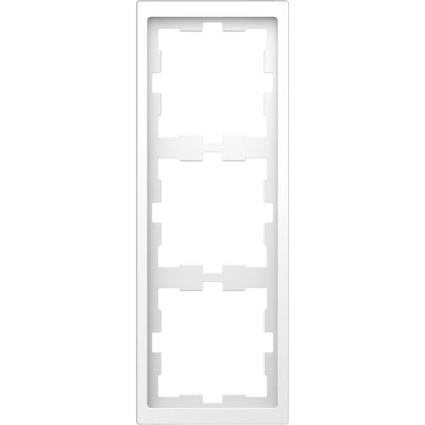 Schneider Electric MTN4030-6535 Kombinasjonsramme 3-roms, t-plast Lotus, hvit