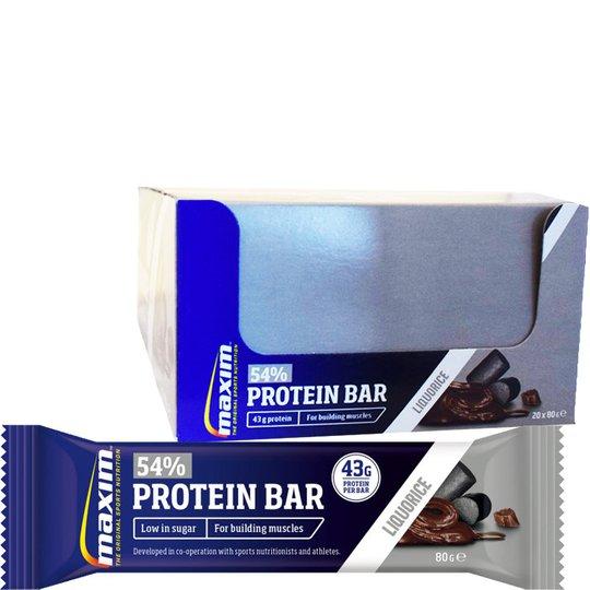 "Hel Låda Proteinbars ""Liquorice & Chocolate"" 20 x 80g - 54% rabatt"
