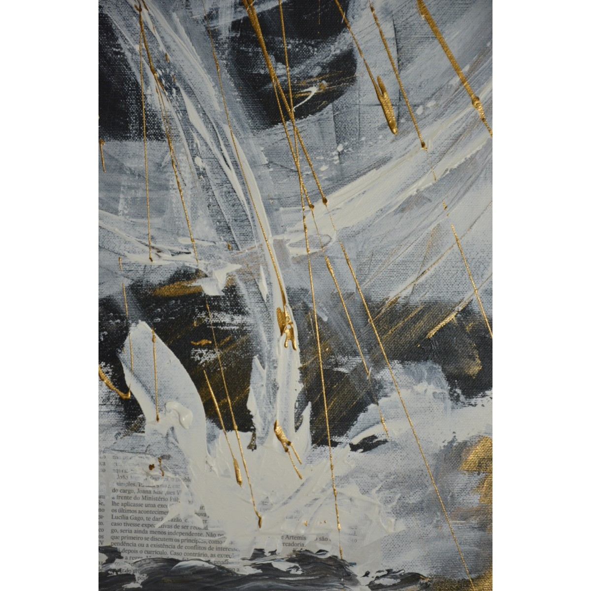 'White Wave Crash' Oil on Canvas