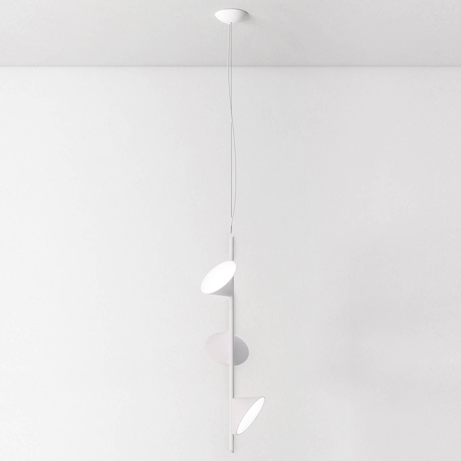 Axolight Orchid LED-riippuvalo 3 lampp. valkoinen