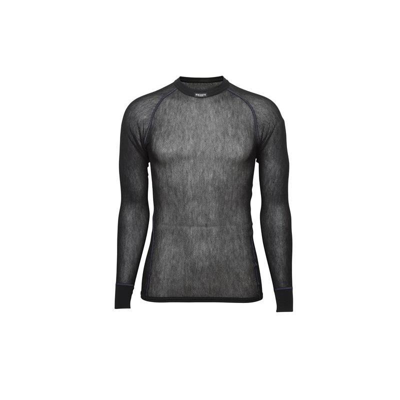 Brynje Wool Thermo Light Shirt XXXL Trøye med rund hals og lang arm - Sort
