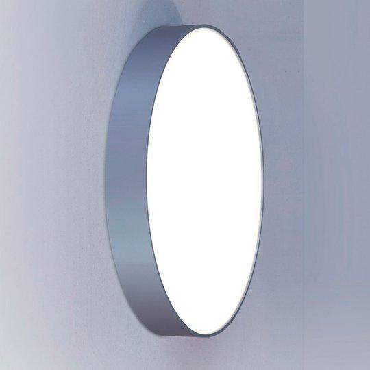 Pyöreä seinävalaisin Basic-A1, hopea