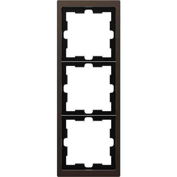 Schneider Electric MTN4030-6552 Kombinasjonsramme 3-roms, metall Mocca