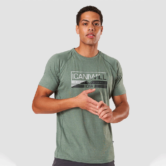 Tri-blend Graphic Tee, Racing Green