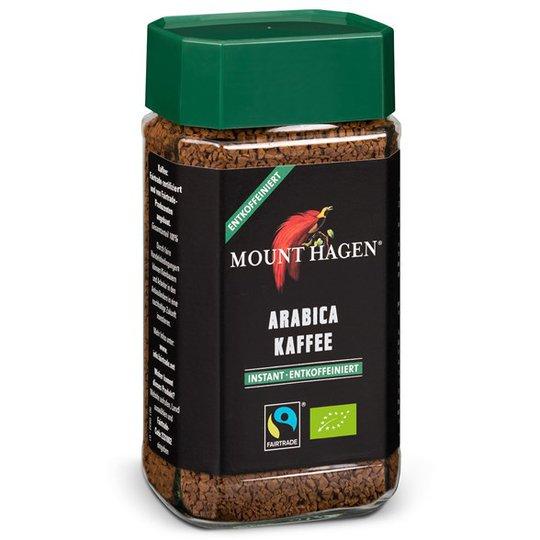 Mount Hagen Snabbkaffe Arabica Koffeinfritt, 100 g