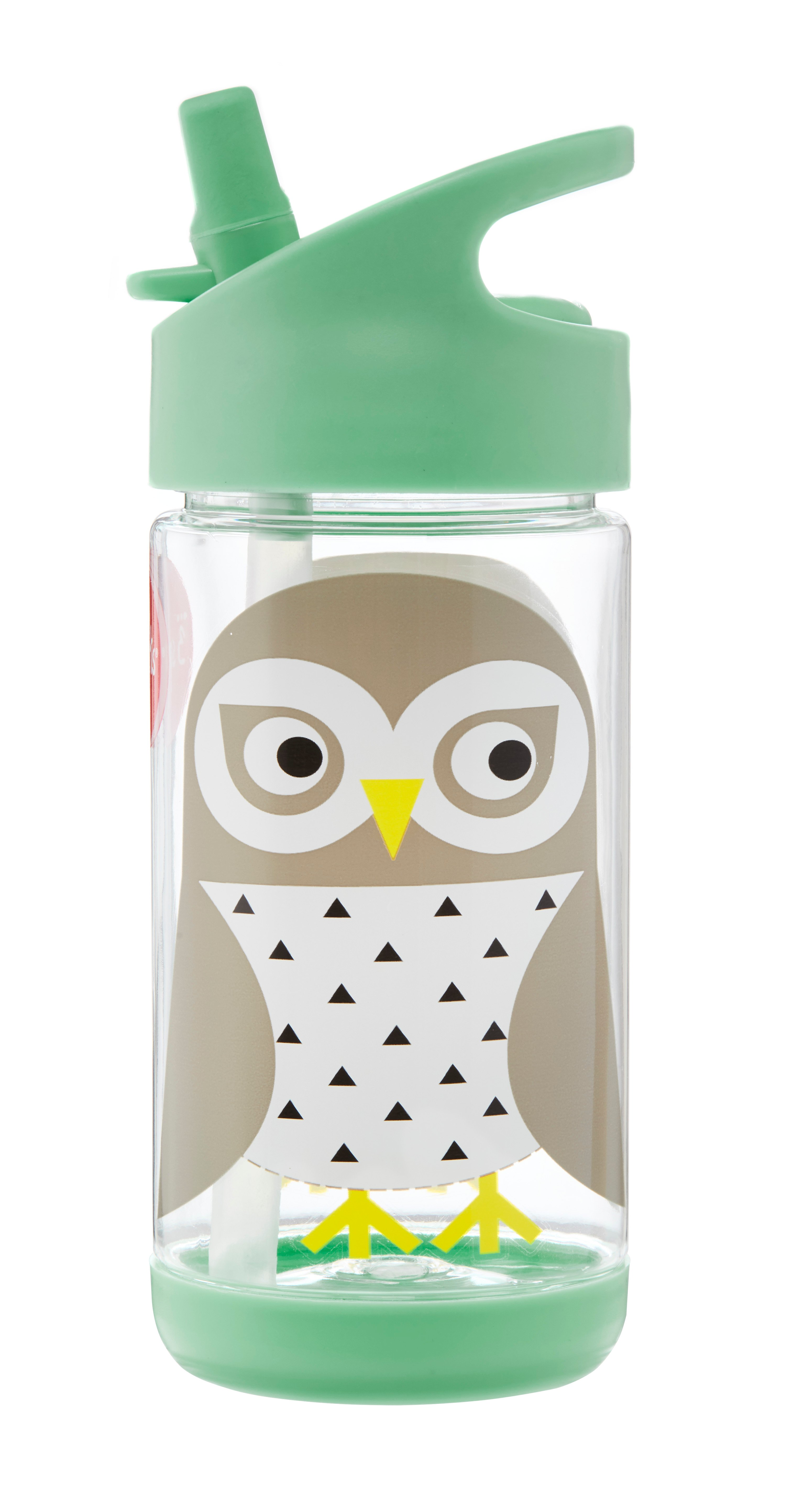 3 Sprouts - Water Bottle - Mint Owl