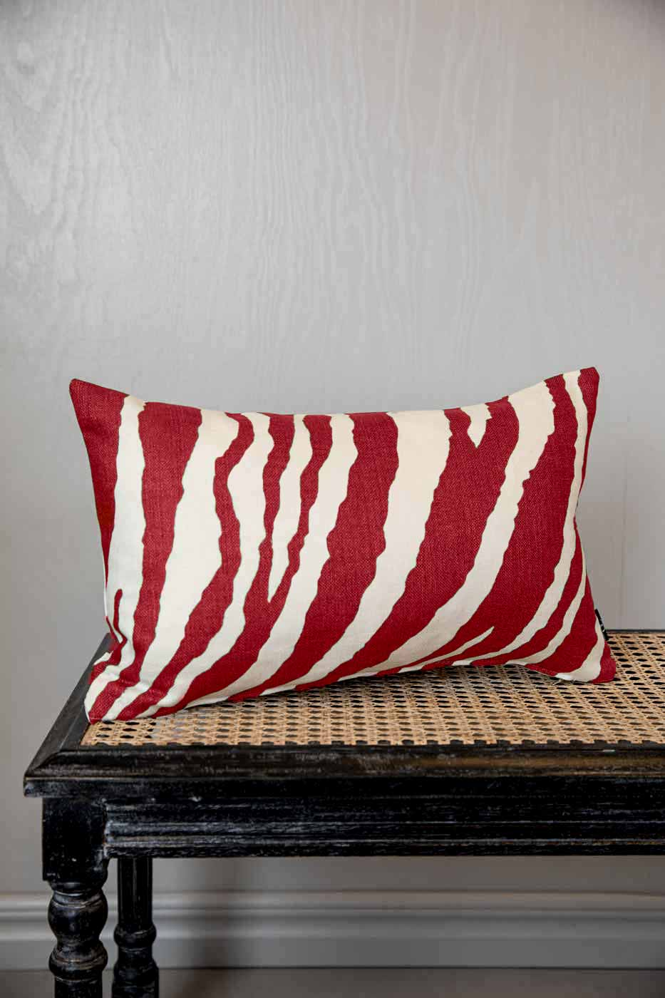 Kuddfodral Zebra 30x50 röd